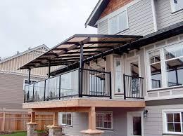 terrasse transparente toiture transparente pour terrasse avec cadre en aluminium deco