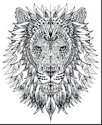 lion coloring pages intricate detailed pdf christmas free