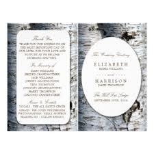 Rustic Wedding Program Template Rustic Wedding Programs Gifts On Zazzle