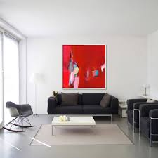Large Artwork For Wall by Abstract Wall Art Red Red And White Abstract Wall Art For Dining
