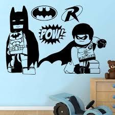 batman robin lego heroes wall sticker transfer decal 4 sizes
