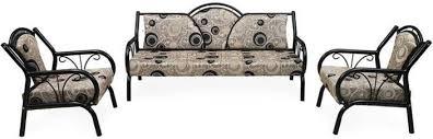 Sofa Set Buy Online India Nilkamal Lemond Fabric 3 1 1 Grey Sofa Set Price In India