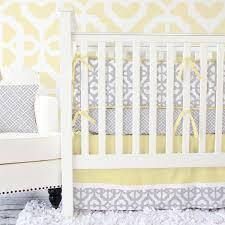 Yellow Crib Bedding Set Yellow Gray Mod Baby Bedding Caden