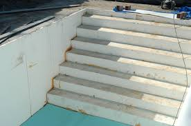 treppe selbst bauen poolfolie verlegen und verschweien pool selber bauende schön pool
