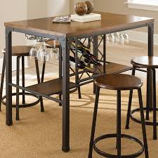 pub table and chairs with storage steve silver rebecca wine storage counter height dining table 271