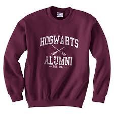 hogwarts alumni sweater hogwarts alumni sweatshirt crewneck maroon on the hunt