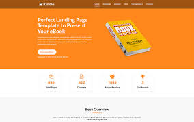 kindle free ebook landing page template