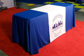 6ft Imprinted Table Cover Custom Table Top Displays And Table Covers