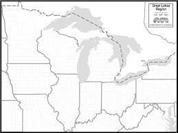 Map Of Michigan Lakes Great Lakes Clipart 23