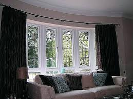 Curtains For Large Windows Inspiration Bow Window Curtains Ideas Bow Window Treatments And How To