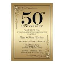 anniversary party invitations gold 50th wedding anniversary party invitations announcements