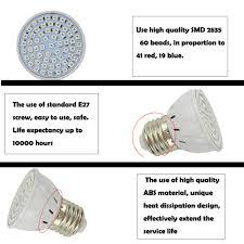 is full spectrum lighting safe full spectrum grow l e27 5w 41 red 19 blue led grow light input
