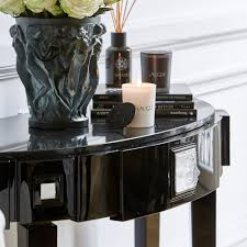 Half Moon Console Table Masque De Femme Half Moon Console Table Numbered Edition Clear