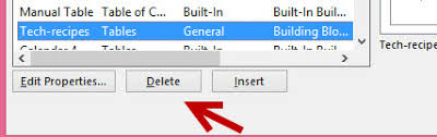 word 2013 save table templates for quicker access