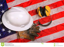 American Flag Hard Hat Work Gear Of American Blue Collar Worker Stock Photo Image 38146930