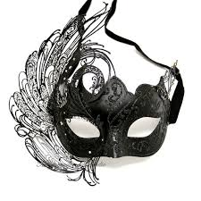 black masquerade masks black masquerade mask luxury venetian filigree black swan laser