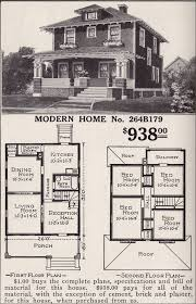 sears homes floor plans artistic foursquare sears modern home no 264b179 pyramidal