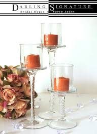 Diy Tall Wedding Centerpieces Votive Candle Holders Set Of 3 Candle Holder Centerpiece Tall