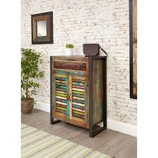 agra reclaimed wood furniture shoe storage cabinet cupboard rack