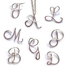 initials necklace silver personalised initial necklace sterling silver wire letter