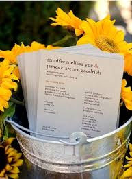 sunflower wedding programs sunflower wedding invitations