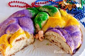mardi gras king cake recipe barbara bakes