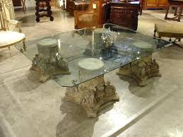 coffee table base for glass top ste gold base glass top coffee