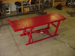 motorcycle lift table plans motorcycle lift table plans garage pinterest lift table