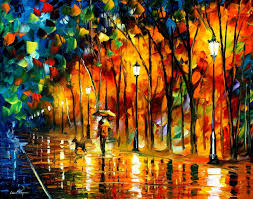 farewell to anger palette knife painting on canvas by