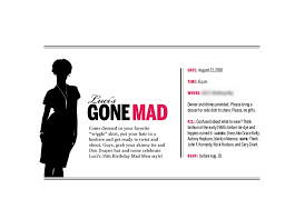 invitation to mad men party mad men party men party and birthdays