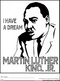 brilliant clown face coloring page with martin luther king jr
