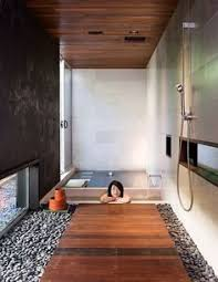 Japanese Bathroom Simple Large Wall Tile With Some Variation - Japanese bathroom design