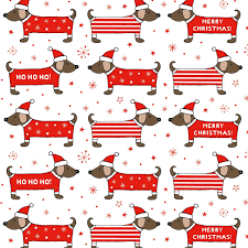 dachshund wrapping paper christmas dachshund wrapping paper 3 sheets christmas