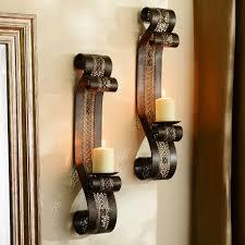 Kirklands Wall Sconces by Pierced Metal Aladdin Sconce Set Of 2 Scroll Design Wall Decor