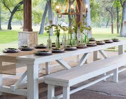 Teak Patio Furniture Furniture White Teak Outdoor Dining Table And Bench Beautiful