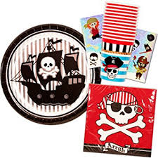 pirate party supplies pirate party supplies set 16 plates 16 napkins