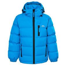 trespass tuff boys puffa jacket kids padded 2 12 yrs school coat