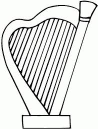 harp coloring page harp coloring pages