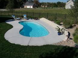 Concrete Backyard Ideas by Horibble Small Backyard Swimming Pool Ideas Presenting Grey