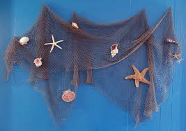 net decor fisherman net decoration fish net hung on blue wall decorated