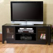 Home Decorators Tv Stand Black Laminated Wodoen Tv Stand With Storage Cabinet And Double F