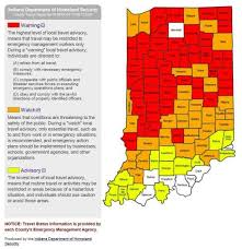 Indiana travel plans images Local news travel status by indiana county map updated tuesday jpg