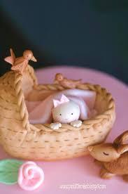 pink little cake spring baby shower cake
