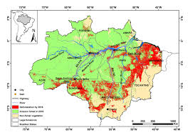 Amazon World Map business as usual a resurgence of deforestation in the brazilian