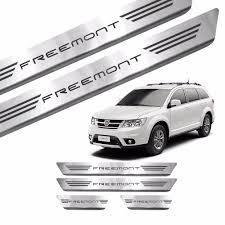 fiat freemont 2017 kit soleira de porta aço inox escovado fiat freemont 2017 r 56