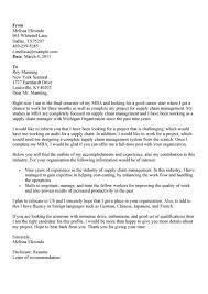 supply chain assistant cover letter