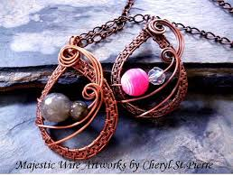 pendant wire necklace images These 7 wire weaving patterns will wow you jpg