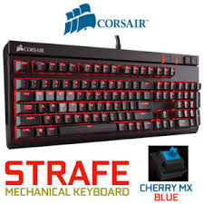 Keyboard Mechanical corsair strafe mechanical gaming keyboard cherry mx blue