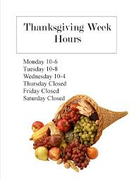 Cub Foods Hours Thanksgiving Thanksgiving Week Is Here Carver Library Carver Ma