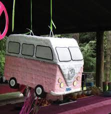 van volkswagen pink vroom get nostaligic with a pretty in pink vw camper van birthday